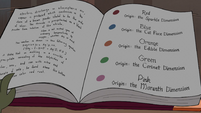 S3E30 Metallurgy book's dimension color guide 3