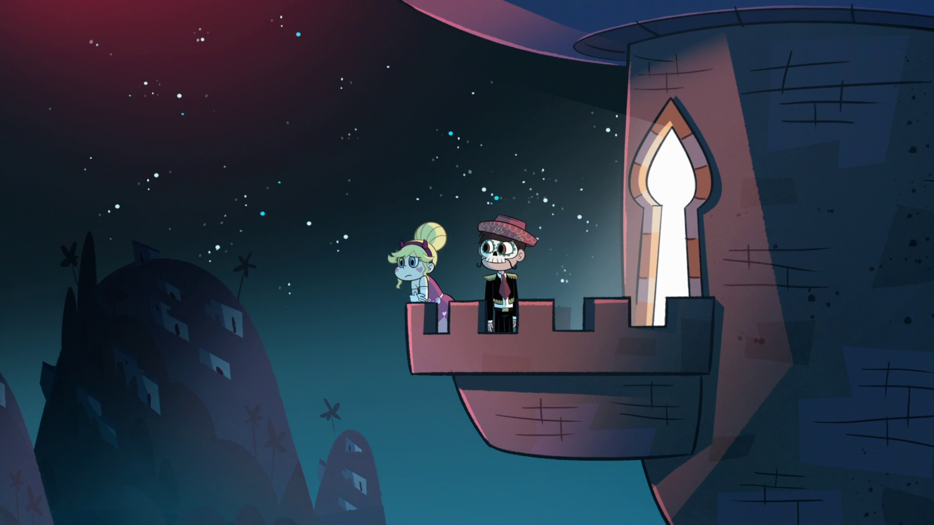 Image - S1E15 Star and Marco on the balcony.png | Star vs. the ...