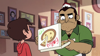 S2E24 Emilio looking at Marco Diaz's pizza