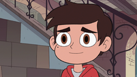 S2E41 Marco Diaz smiling at Star Butterfly
