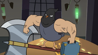 S3E20 Executioner pigeon holding a briefcase