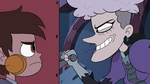 S3E24 Miss Heinous grinning at Marco