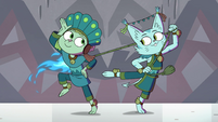 S4E10 Cat and dog monster dancing together