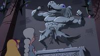 S4E3 Temple sculpture of a monster