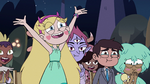 S3E34 Star Butterfly shouting 'mazel tov!'
