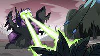S3E36 Meteora blasts her lasers at the plants