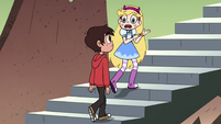 S4E3 Star and Marco walk up temple stairs
