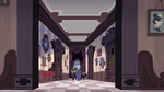 S3E33 Meteora, Rasticore, and Gemini in the hallway