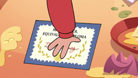 S4E26 Marco puts his diploma on the table