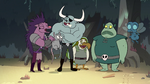 S2E12 Dogbull and monsters laugh at Buff Frog