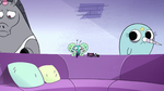 S2E22 Rock and narwhal walk away from Spider With a Top Hat