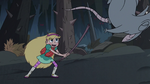 S3E1 Star whacks a rat away with her stick