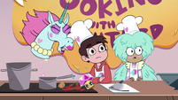 S4E9 Pony Head spits cupcake out of her mouth