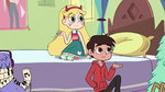 S2E33 Star Butterfly and Marco look at Pony Head