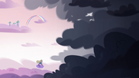 S3E35 Star Butterfly flying into the storm