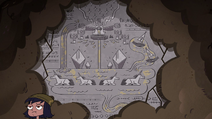 S4E30 Stone wall of Mewni hieroglyphics