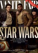 TLJ BB-8 Poe Finn & Rose Vanity Fair Cover