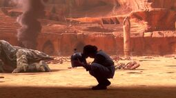 Young Fett on Geonosis