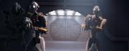 Grievous and commando droid escort