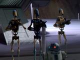 R2-D2's battle droid squadron