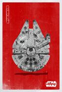 The Last Jedi Falcon Poster