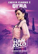 Solo Qi'ra Brazillian Poster