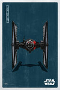 The Last Jedi Tie Fighter Poster