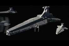 Imperial Venators and V-wings