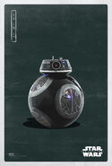 The Last Jedi bb-9e Poster