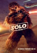 Solo UK Chewie Poster