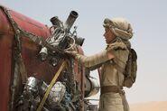 Rey Speeder Close Up
