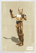 The Last Jedi C-3PO Poster