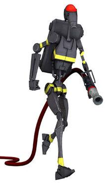 Firefighting battle droid