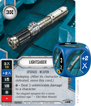 Swd01 card-dice lightsaber