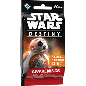 Star Wars Destiny Awakenings Legendary Card With Die x1