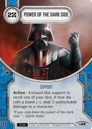 Swd01 card power-of-the-dark-side
