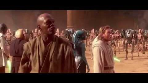 Star Wars Episode II Battle of Geonosis Scene