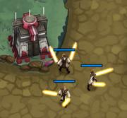 Tower melee Warrior Training