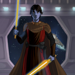 An older Jacenn Skywalker as a Jedi Knight.