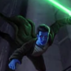 Coleman Skywalker leaping at Darth Nihl before being killed.