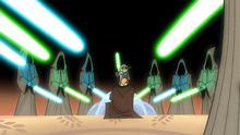 Anakin Knighting Clone Wars