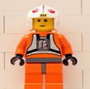 Amarilla Luke Skywalker (Pilot con caderas grises azulados oscuros)