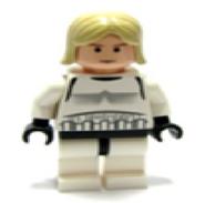 La carne Luke, el pelo más largo (disfraz Stormtrooper)