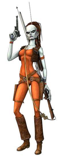 Power of the Jedi Aurra Sing Bounty Hunter NOC Star Wars