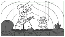 Face the Music Ballad of Star Butterfly storyboard 1