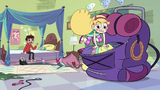 S2E28 Star Butterfly packing a large backpack