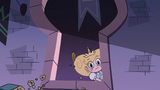 S2E40 Star Butterfly looks outside at angry Mewmans