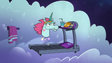S2E31 Pony Head floating over a treadmill