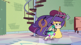 S2E28 Star Butterfly stands with backpack on her back