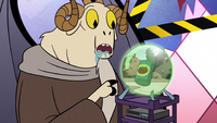 S2E25 Image of tomato can appears on Omnitraxus' orb